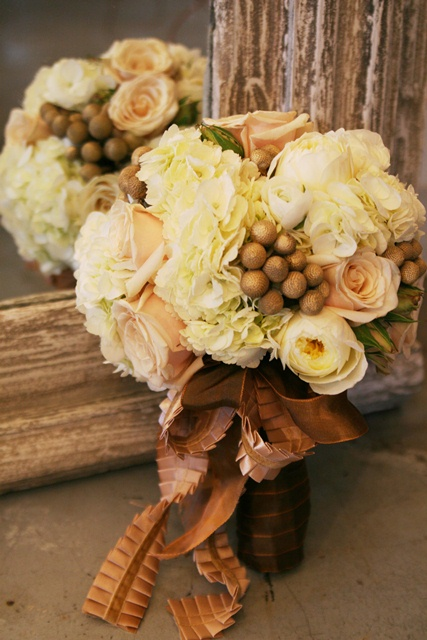 Blush gold bouquet by Just Bloomed
