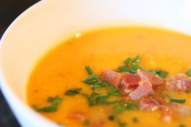 Paleo Not-Too-Sweet Sweet Potato Soup