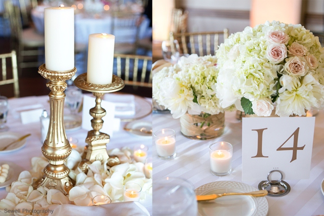 8blush gold centerpiece
