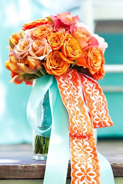 7Just Bloomed orange teal